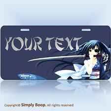Personalized Your Text Name Custom License Plate Auto Car Tag Japanese Anime