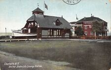 Charlotte New York~Big Rescue Boat in United States Life Saving Station 1913