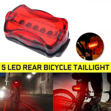 5 LED MTB Bike Bicycle Rear Tail Light Flashing Safety Warning RED Lamp Night
