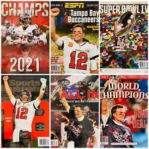 6 Tampa Bay Buccaneers Super Bowl LV Magazines Program Sports Illustrated Brady