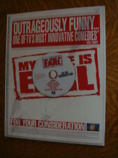 MY NAME IS EARL EMMY FYC DVD 5 episodes Jason Lee + Promo Ad Page Jaime Pressly