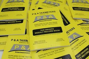 1 Weekly Accounts Record Book for Taxi, Minicab & Hackney Carriage for Tax HMRC
