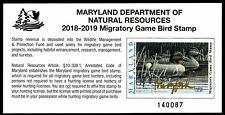 Md-45 (2018) Maryland State Duck Stamp Signed by Artist In Gold (Paul Brigford)