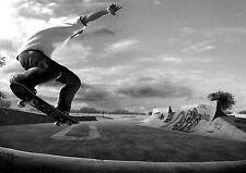 Skate Patineta Deportes Extremos cartel impresión fotográfica A3 260GSM