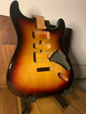 More details for 3 tone sunburst - gloss nitro strat guitar body nitrocellulose stratocaster