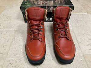 Vintage Timberland Boots 6 Inch Lea Hiker model 95012M Brown size UK 10.5