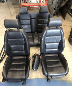 Audi A4 Cabriolet B7 B6 Black Leather Heated Front Rear Seats Interior 2001-2009