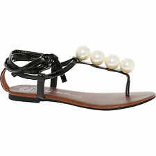 Jeffrey Campbell Black Embellished Leather Sandals. Size 5. RRP. £120.