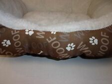 Soft Woof Print Small Dog Bed pet cat kitten new puppy S Washable Soft bone paw