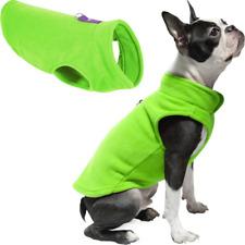 Dog Fleece Hoodie Puppy Fleece Pullover Fleece Vest Sweatshirt Accessories Green