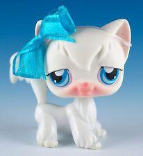 Littlest Pet Shop Cat Longhair #9 White With Blue Eyes
