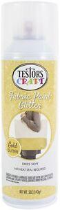 Testors-Testor Glitter Fabric Spray Paint 5oz-Gold