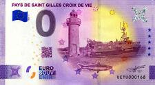 85 SAINT-GILLES-CROIX-DE-VIE Phare et bateau, N°2ème, 2021, Billet Euro Souvenir