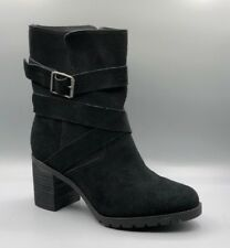 "NEW Clarks ""Malvet Doris"" Ladies Black Suede Mid Calf Warm Boots UK 4 D"