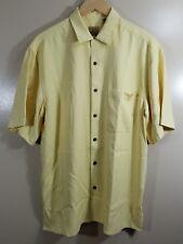 Jos. A. Bank Mens Short Sleeve Button Down Shirt Yellow Size Medium Yellow