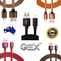1M Leather Fast Lightning USB Data Cable Charger Cord for iPhone X 8 7 6 iPad AU
