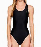 TYR Women's Swimwear Black Size 28 One-Piece Performance Maxfit Cutout $59 #588