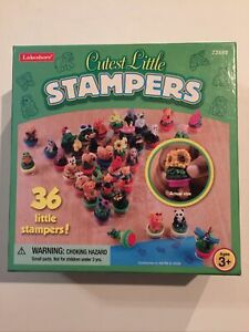 Lakeshore Cutest Little Stampers. 36 Self Inking Stamps. Bears, Bugs, Flowers