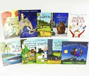 Julia Donaldson 10 Book Picture Book Collection Set Gruffalo EYFS Reading (New)