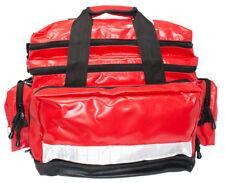 KITTED Red Emergency Wipe down Waterproof Large Paramedic Holdall Trauma EMT Bag
