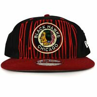 New Era 9Fifty Chicago Blackhawks Snapback Hat Men's Cap Red Black Vintage