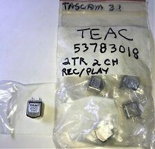 """TASCAM 32, TEAC 53783018 1/4"""" 2TR 2CH REC/PLAY HEAD, 33-2, BR-20N, 5378301800"""