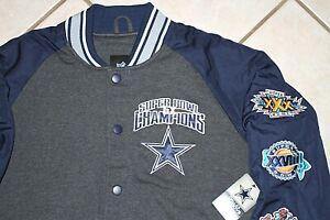 NEW G-III Dallas Cowboys 5 Time Super Bowl Champions Varsity Jacket Mens M XL