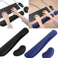Memory Foam Mouse Pad Mat Keyboard Wrist Rest Support for Computer & Laptop