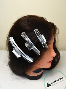 "Vintage Style Wave Clamps 1920s  finger wave clamps 3""  4"" & 5"" Inch Hair Clips"
