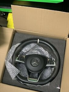 Mercedes-Benz OEM W205 AMG Performance Leather Alcantara Steering Wheel C-Class