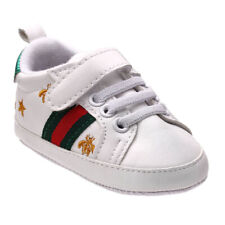 Newborn Baby Crib Shoes Faux Leather Infant Toddler Boy Girl Pre Walker Sneakers