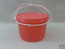 Tupperware Canister  Snacks Cariolier Handle Candy 14 Cup Guava New