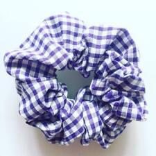 Accessories, hair scrunchies,handmade, School Uniform, Purple Check, Gingham