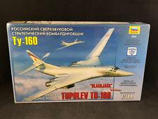 """Zvezda Tupolev TU-160 """"Blackjack"""" Russian Bomber 1:144 Scale Model Kit 7002 NIB"""