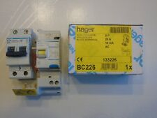 HAGER BC226 + NF225 DISJONCTEUR DIFFERENTIEL 2P 25A 10mA TYPE AC 230V NEUF