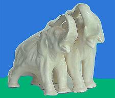 Ceramique  Craquelé        Elephants   / 1930   Livraison dans le Monde entier