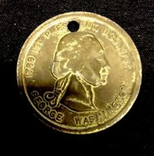 1789 - 1797 George Washington 2 Sided Coin Token Medal Holed Nice Condition