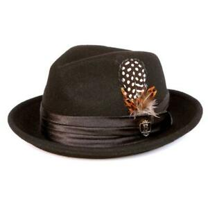 Bruno Capelo Kid's Brown Australian Wool Fedora Dress Hat W/ Satin Band