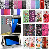 Wallet Leather Case Floral Flower Cover Flip For Samsung Galaxy s4 S5 S5 Mini S7