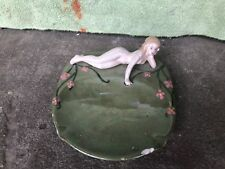 Vintage Art Deco Bathing Beauty Trinket Dish Figure