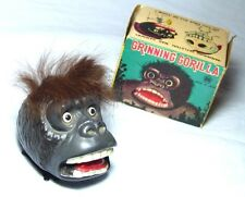 SUPER BOXED VINTAGE CLOCKWORK TOY GRINNING GORILLA wind up
