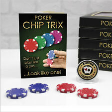 Poker Chip Trix Card Magic Tricks Poker Player Gift Set - Includes Poker Chips