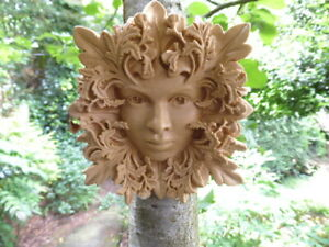 Gothic Green Woman Woodland Enchantress Wall Plaque – Portland or Cotswold Stone