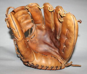 Antique Vintage 1950's Rawlings EM Eddie Mathews personal model baseball glove
