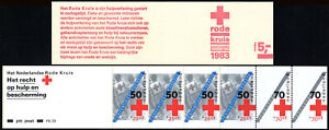 Netherlands B592a, Booklet, MNH. Red Cross Workers, Peace, 1983