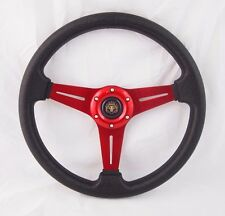 Steering Wheel with Adapter Red Ez-go POLARIS Ranger Club car Harley Kubota
