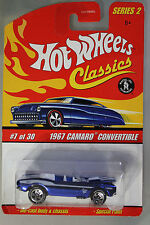 Hot Wheels 1:64 Scale HW Classics Series 2 1967 CAMARO CONVERTIBLE (BLUE)