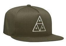 Huf Worldwide Skateboard Cap Snapback Dad Camp Hat Triple Triangle Olive