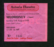 Original 1991 Mudhoney Hole Daisy Chainsaw Concert Ticket Stub Astoria London