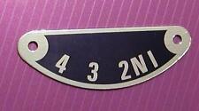 57-1417 metal GEAR INDICATOR PLATE 350/500 TRIUMPH unit twins 3TA 5TA T90 T100